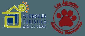 Sello de Albergue Turístico de Castilla y León y MASCOTAS bienvenidas en Las Águedas