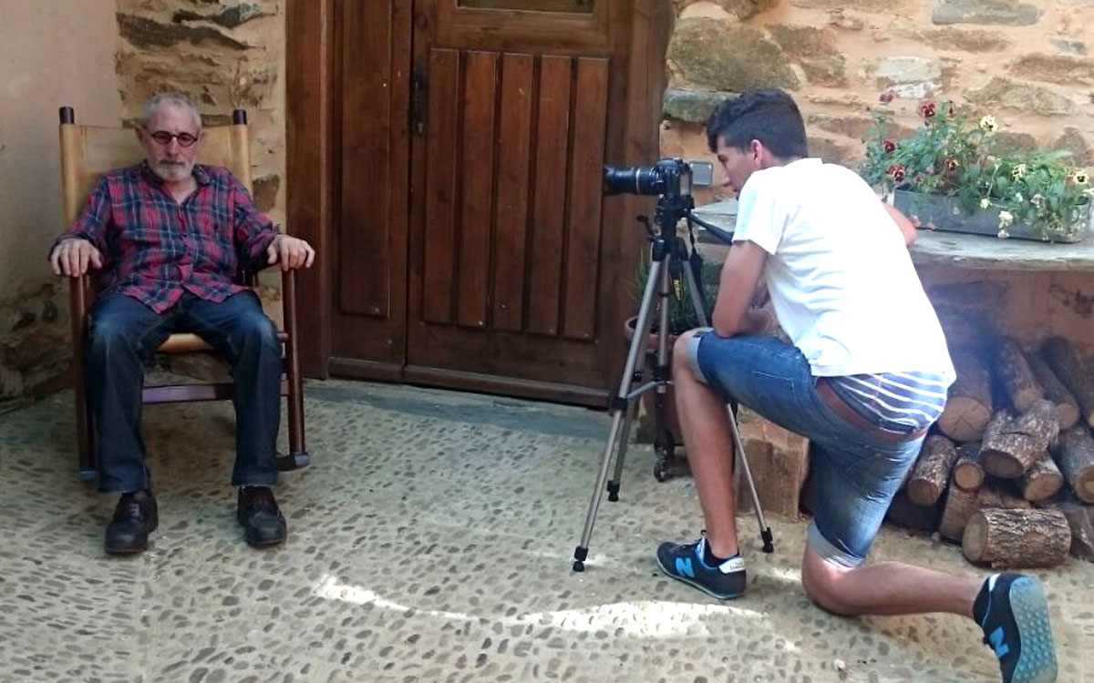 Rodaje del cortometraje La Mecedora en Las Águedas